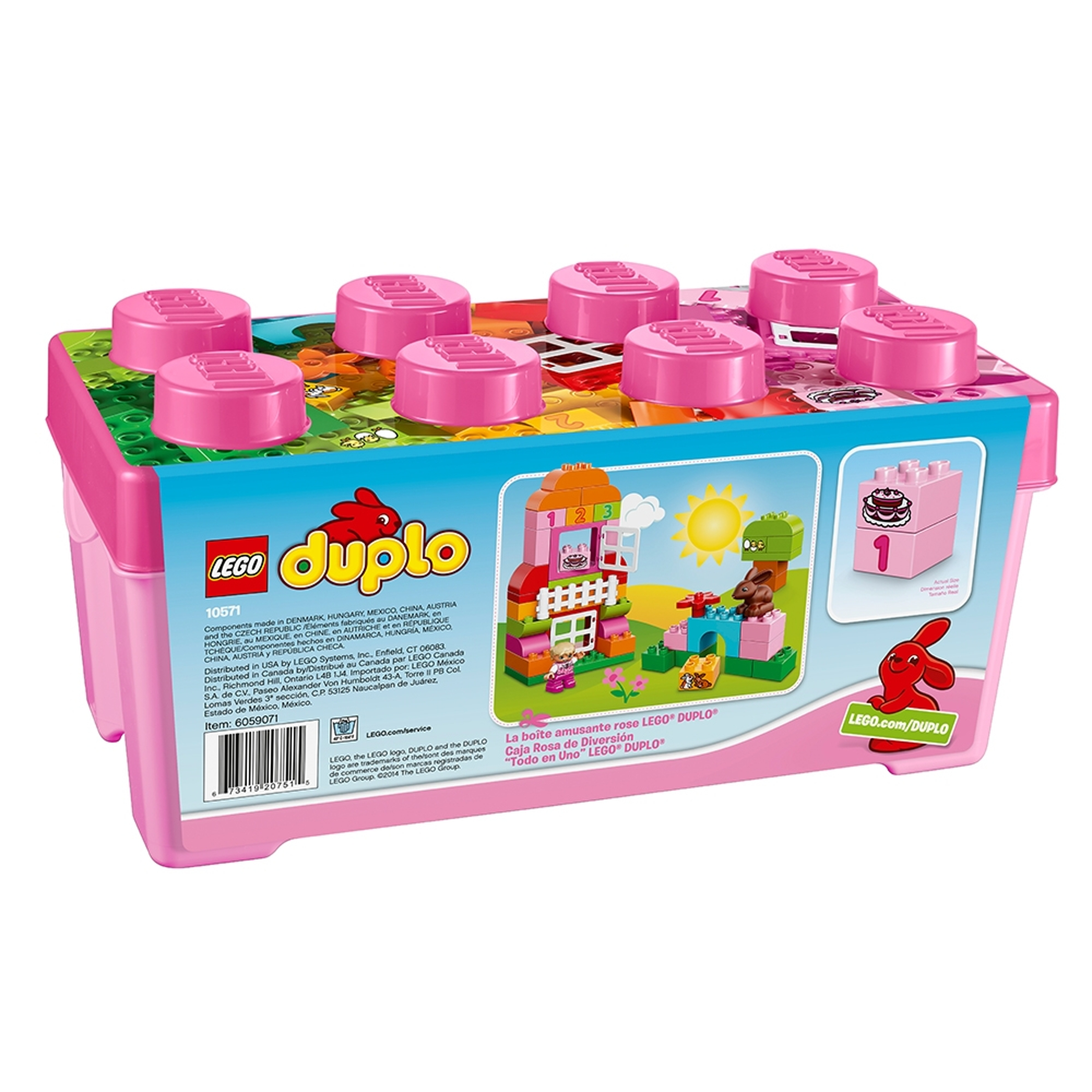 duplo 10571 all in one pinkki leikkilaatikko