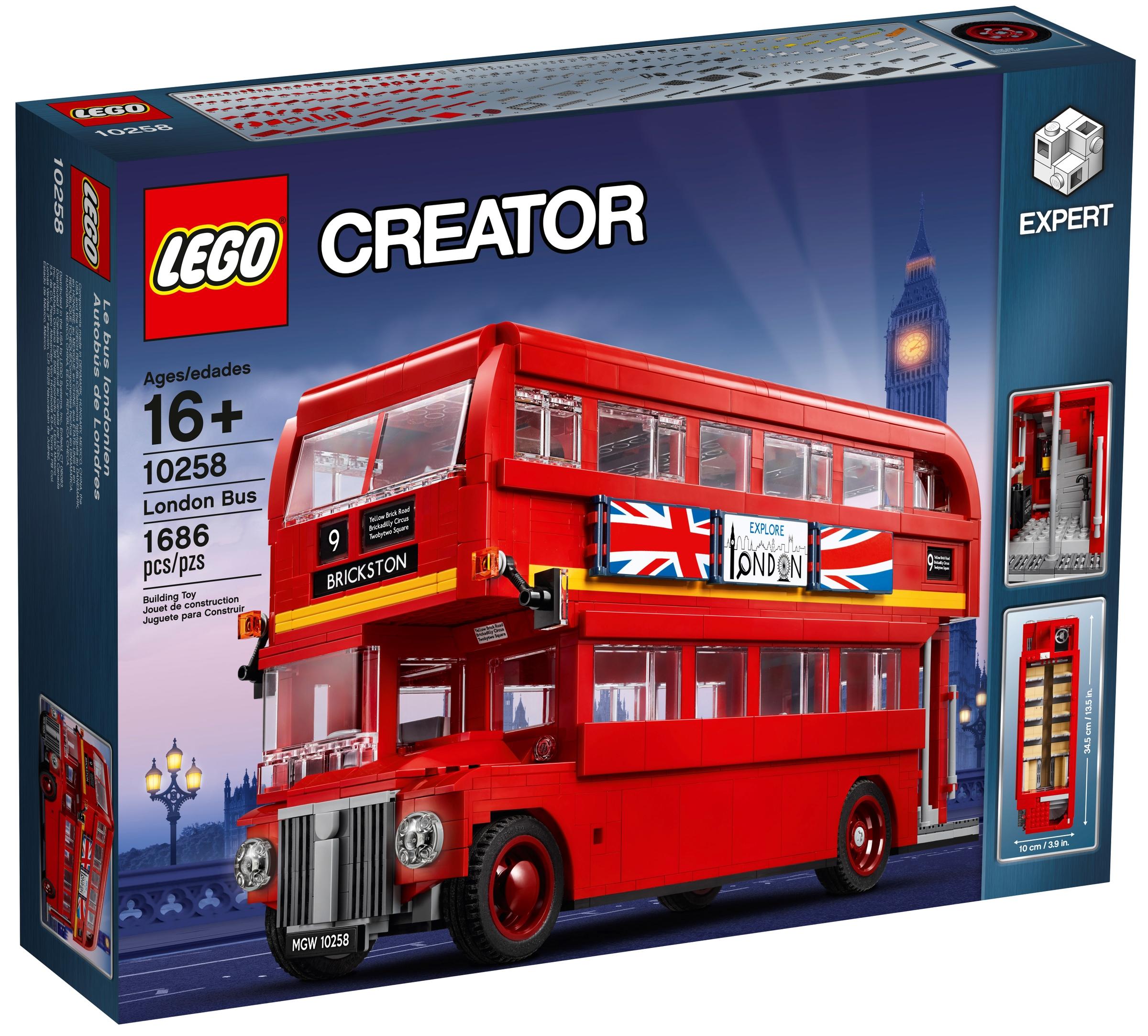 lego 10258 lontoon kaksikerroksinen bussi