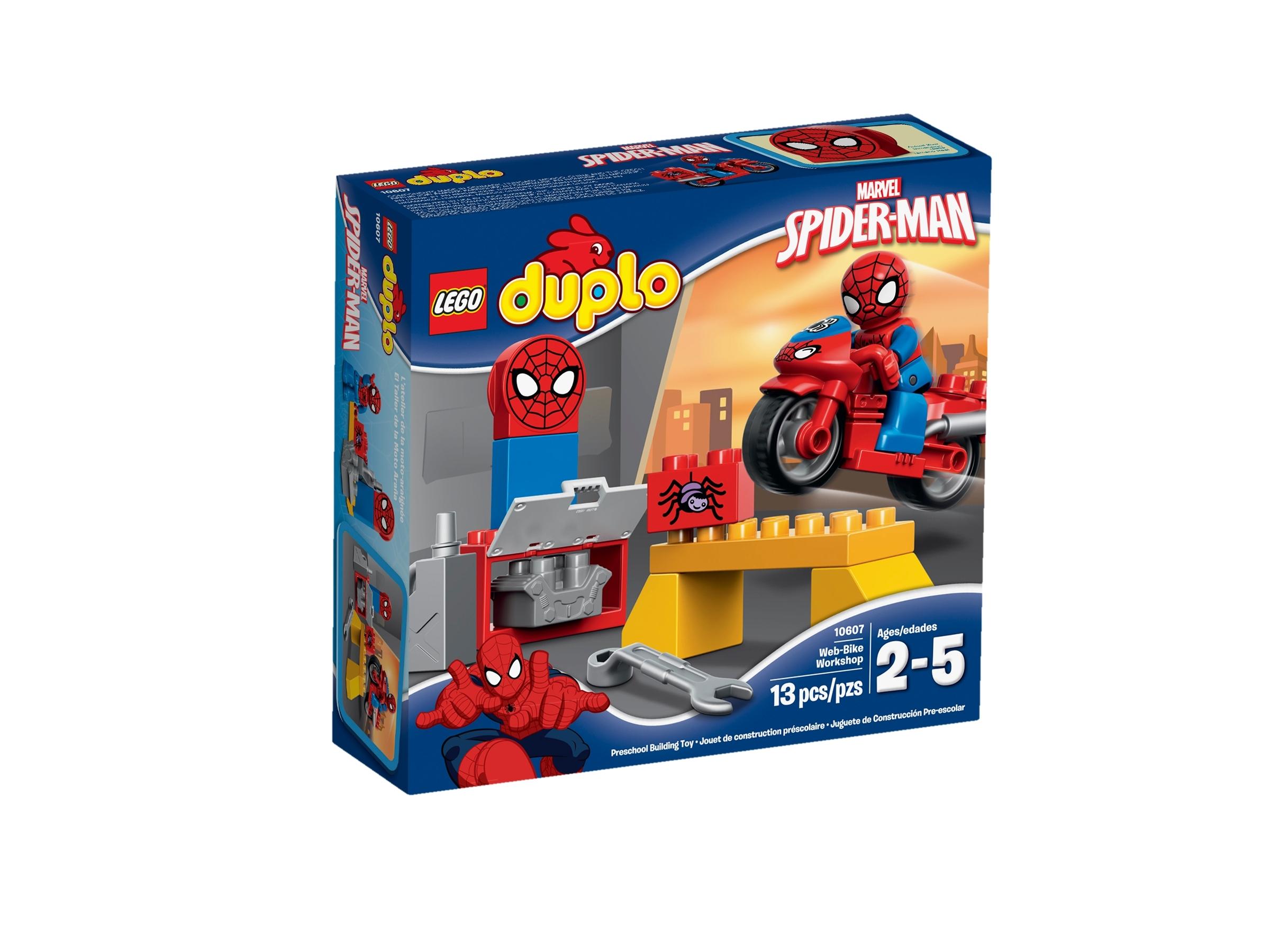 lego 10607 spider manin seittimoottoripyoran paja