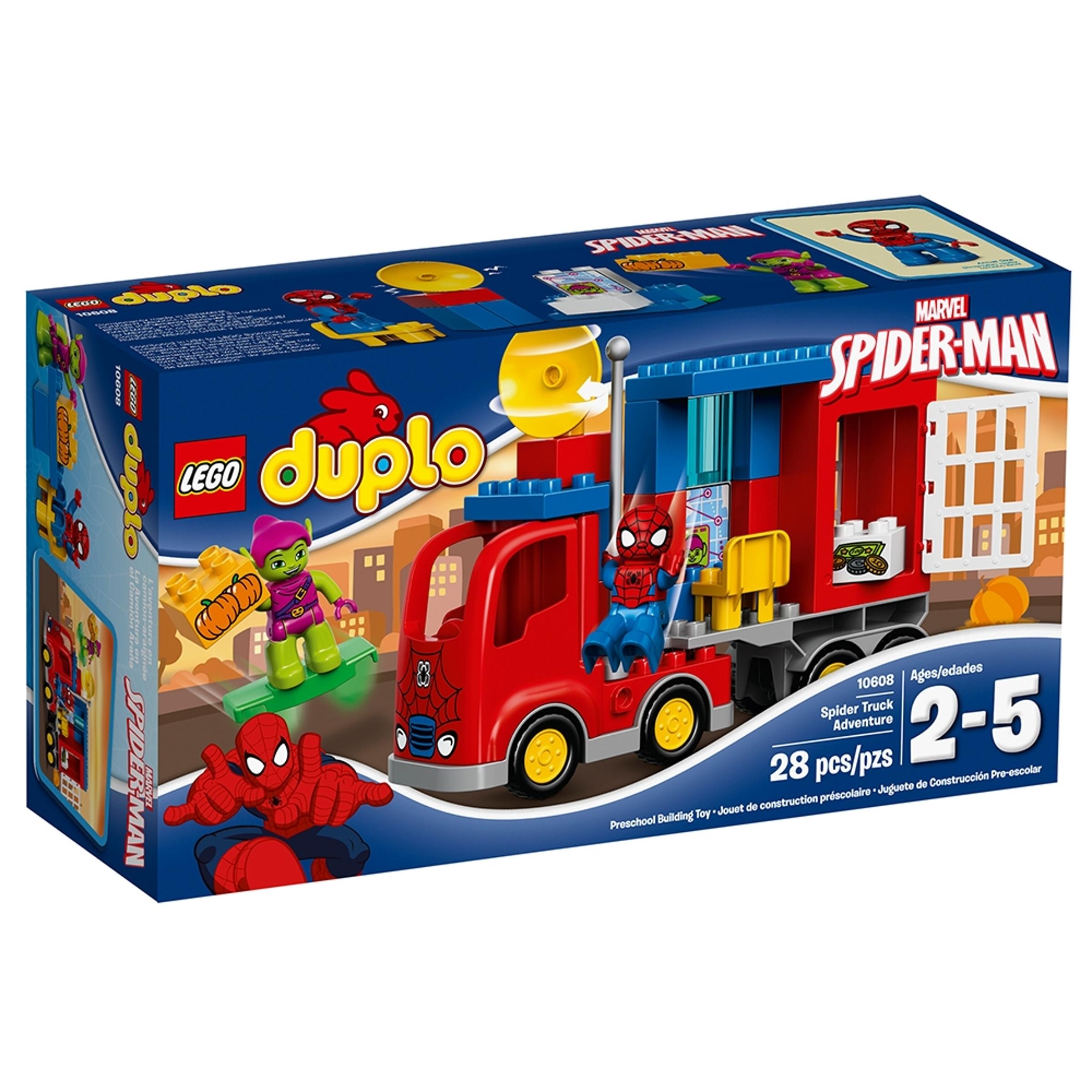 lego 10608 spider man ja seikkailu hamahakkikuorma autolla