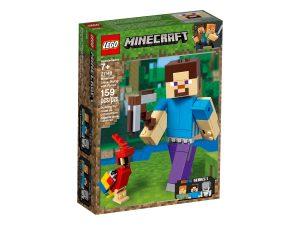 lego 21148 minecraft bigfig steve ja papukaija