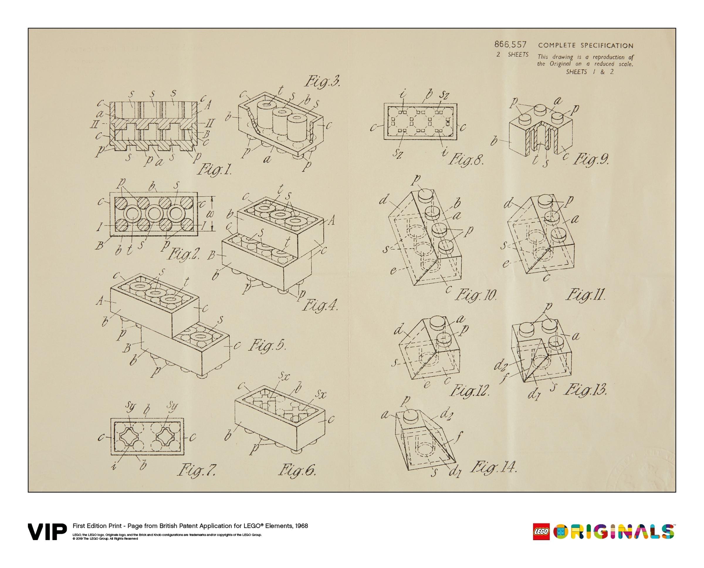 lego 5006004 brittilainen patenttipiirros 1968 1 painos