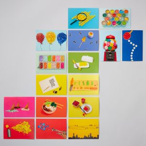 lego 5006207 still life with bricks 100 collectible postcards