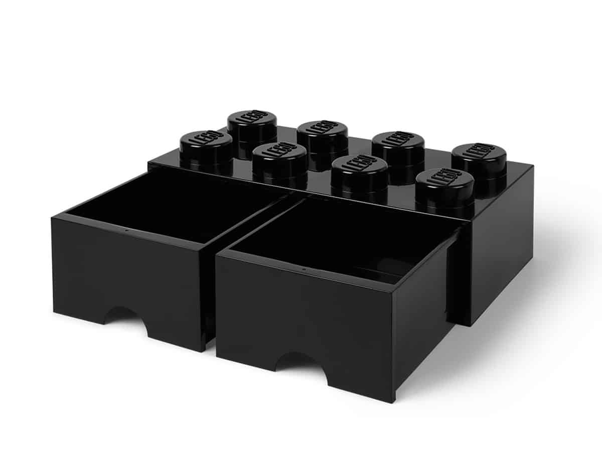 lego 5006248 8 nastainen musta sailytyspalikkalaatikko