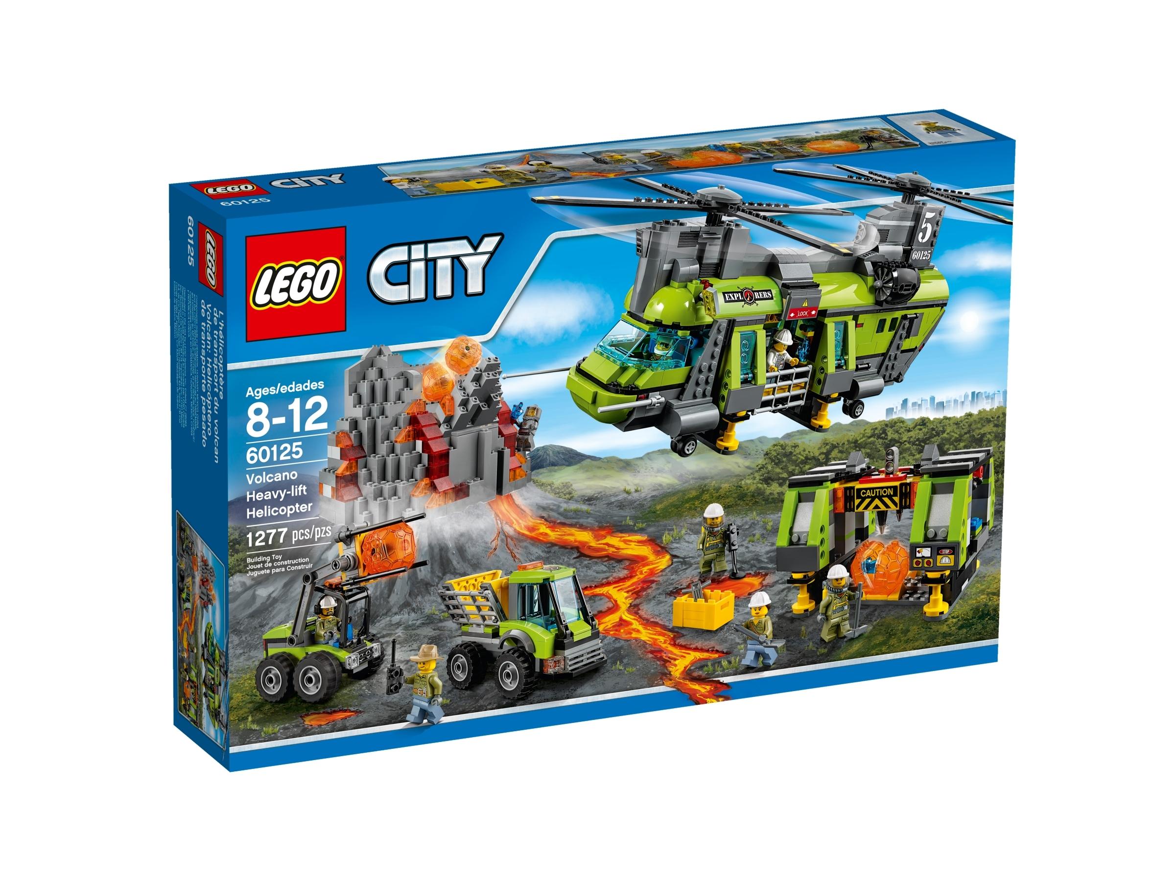 lego 60125 tulivuoren kuljetushelikopteri
