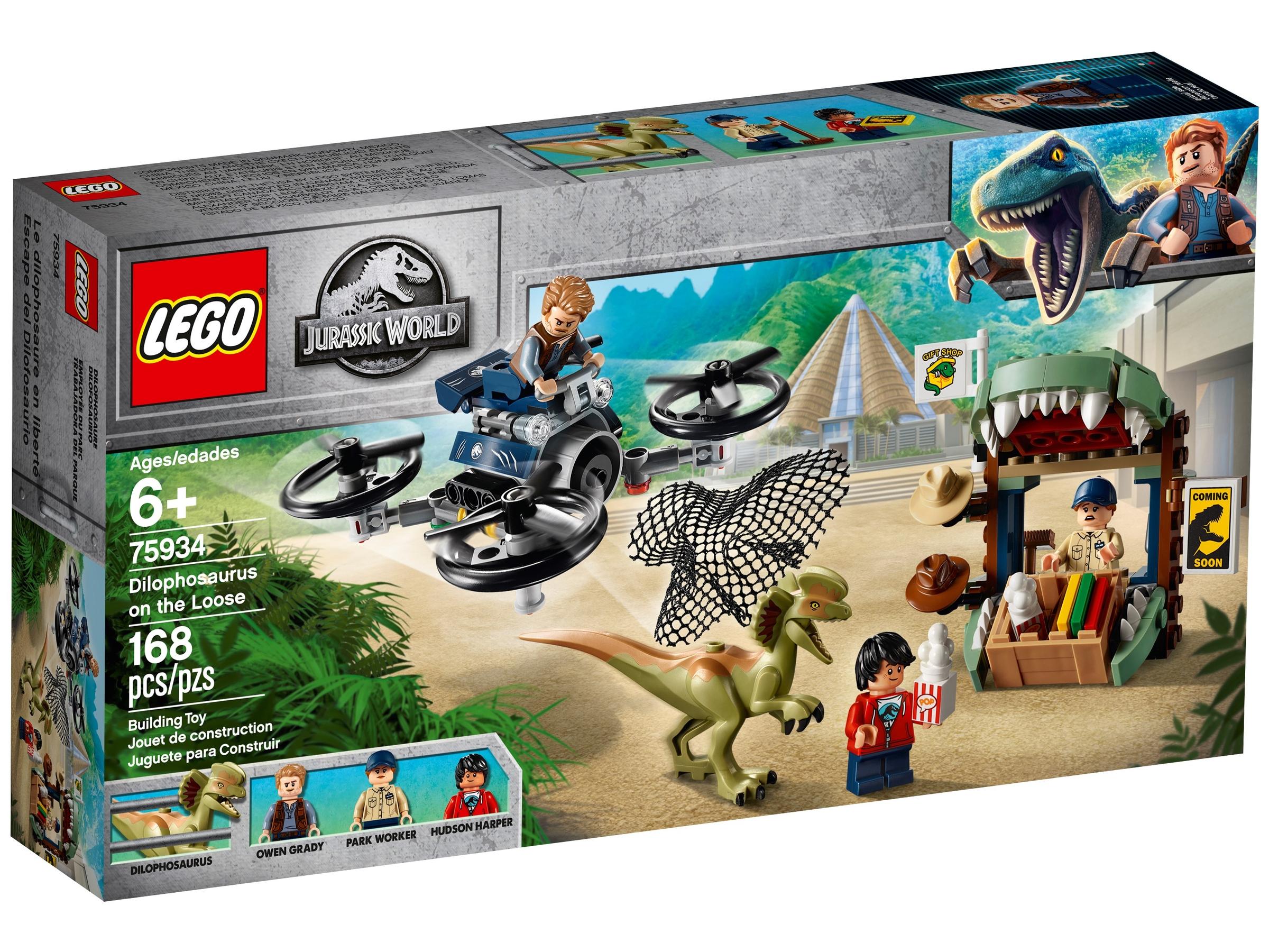 lego 75934 dilophosaurus karkuteilla