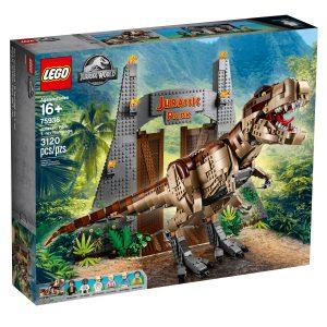 lego 75936 jurassic park tyrannosaurus rex riehaantuu