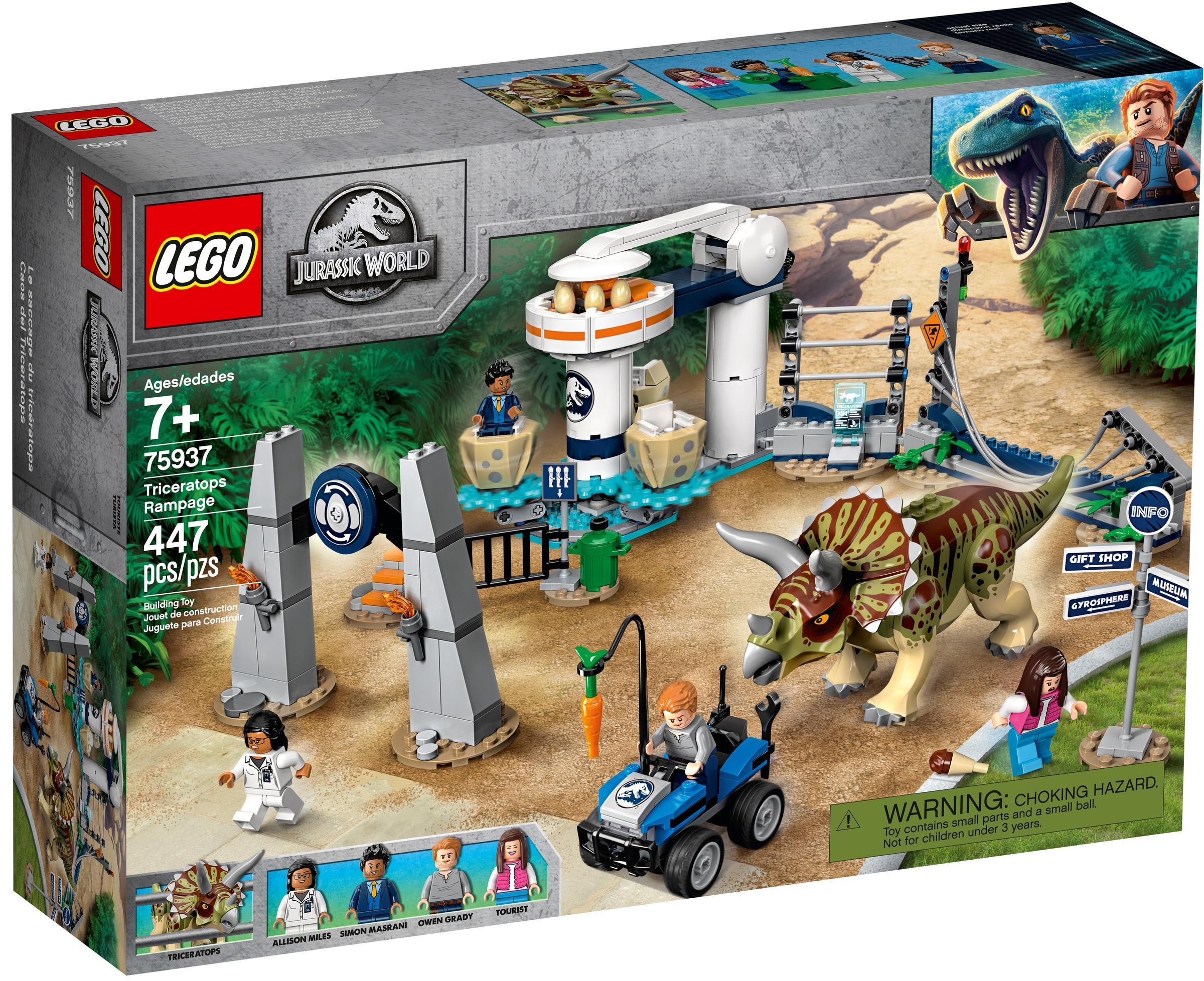 lego 75937 triceratopsin riehunta
