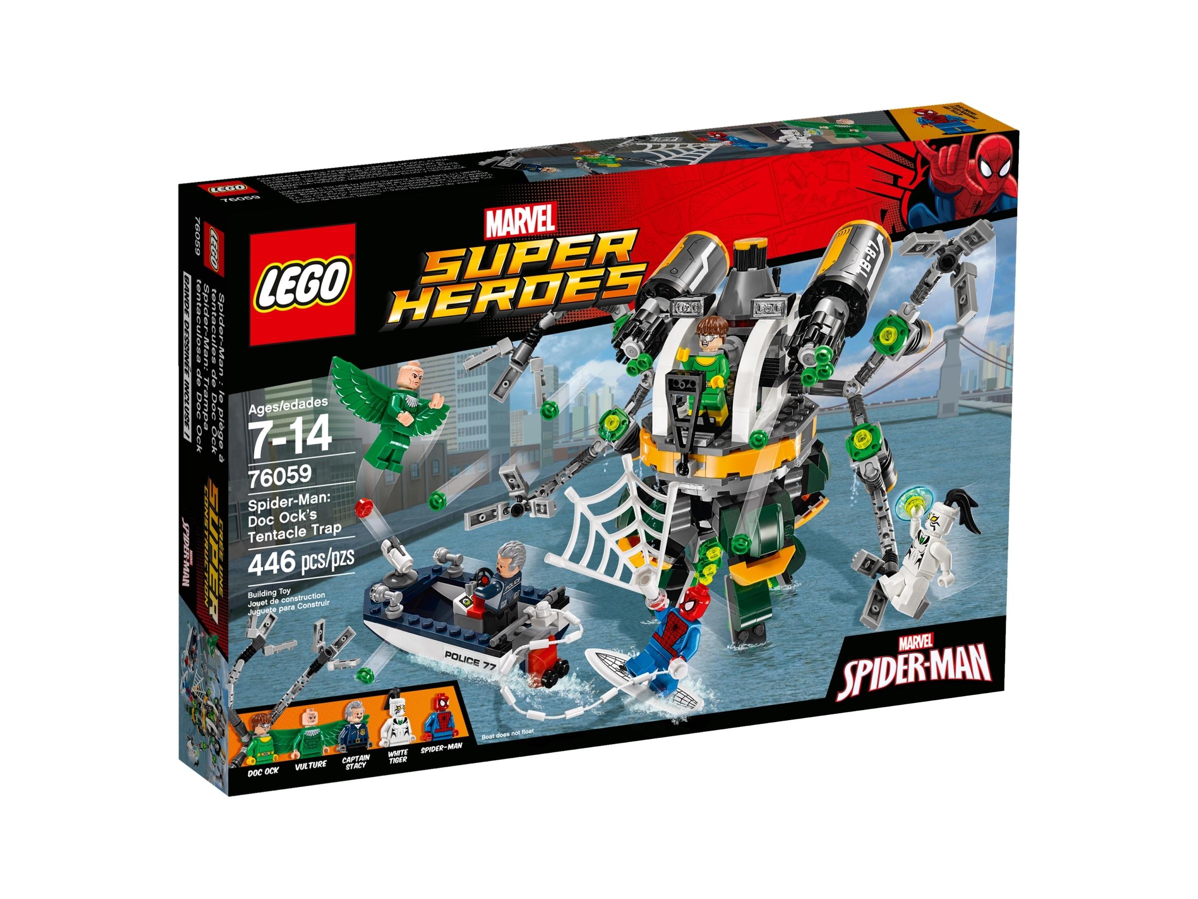 lego 76059 spider man tohtori mustekalan lonkeroansa