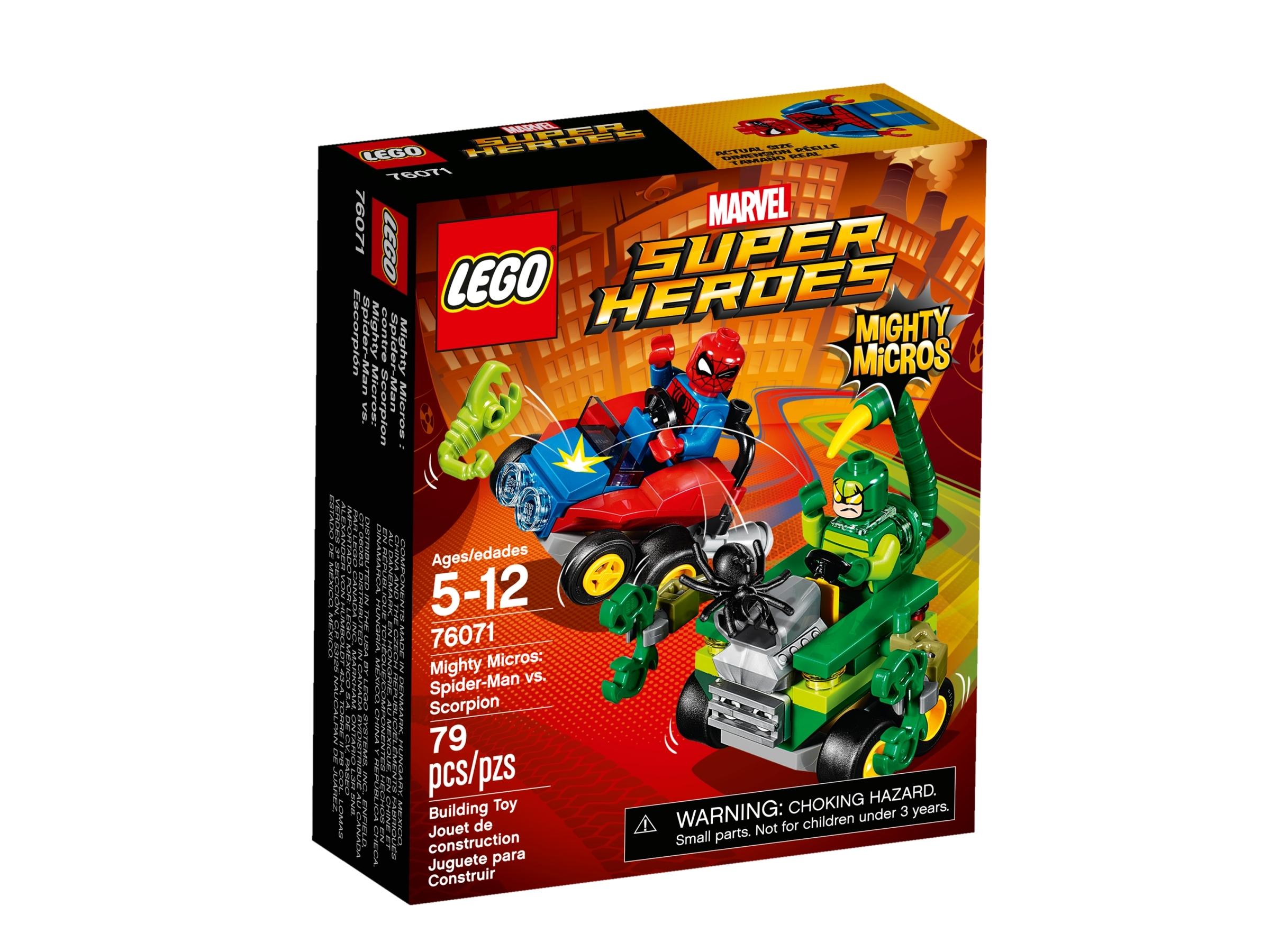 lego 76071 mighty micros spider man vs skorpioni