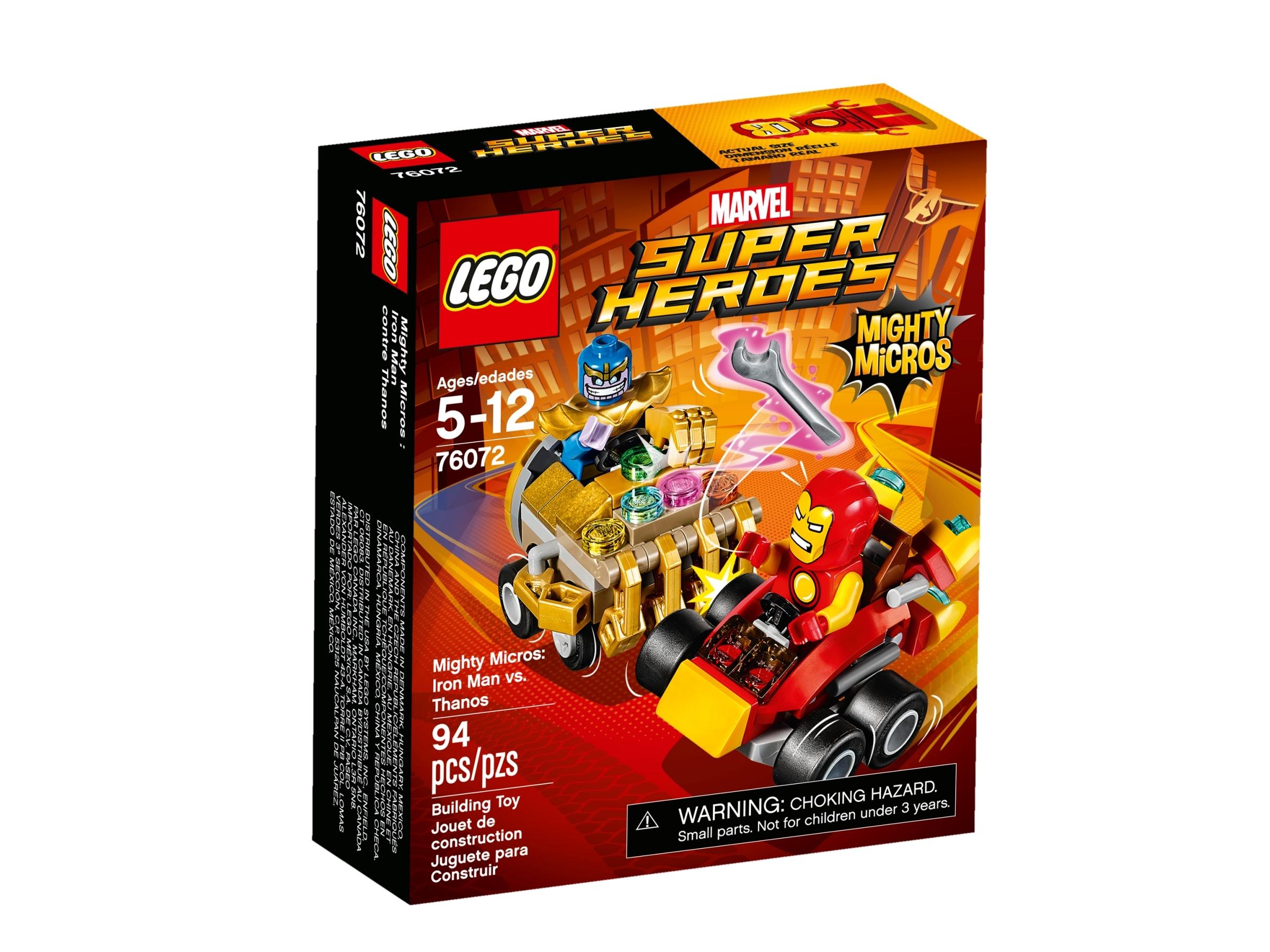 lego 76072 mighty micros iron man vs thanos