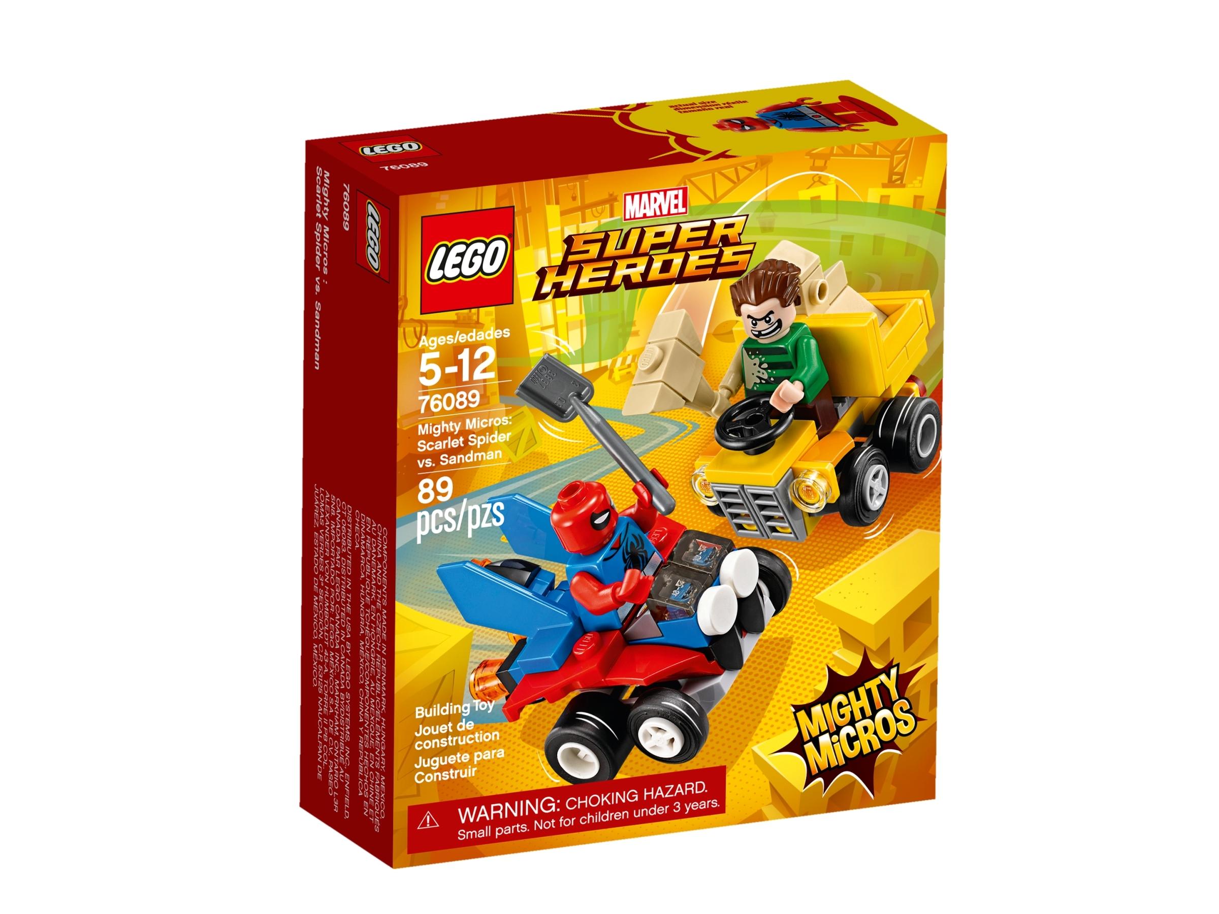 lego 76089 mighty micros scarlet spider vastaan sandman