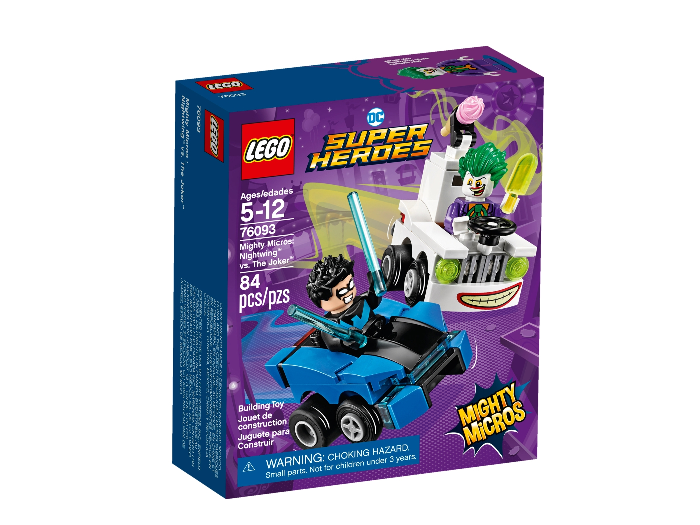 lego 76093 mighty micros nightwing vastaan the joker