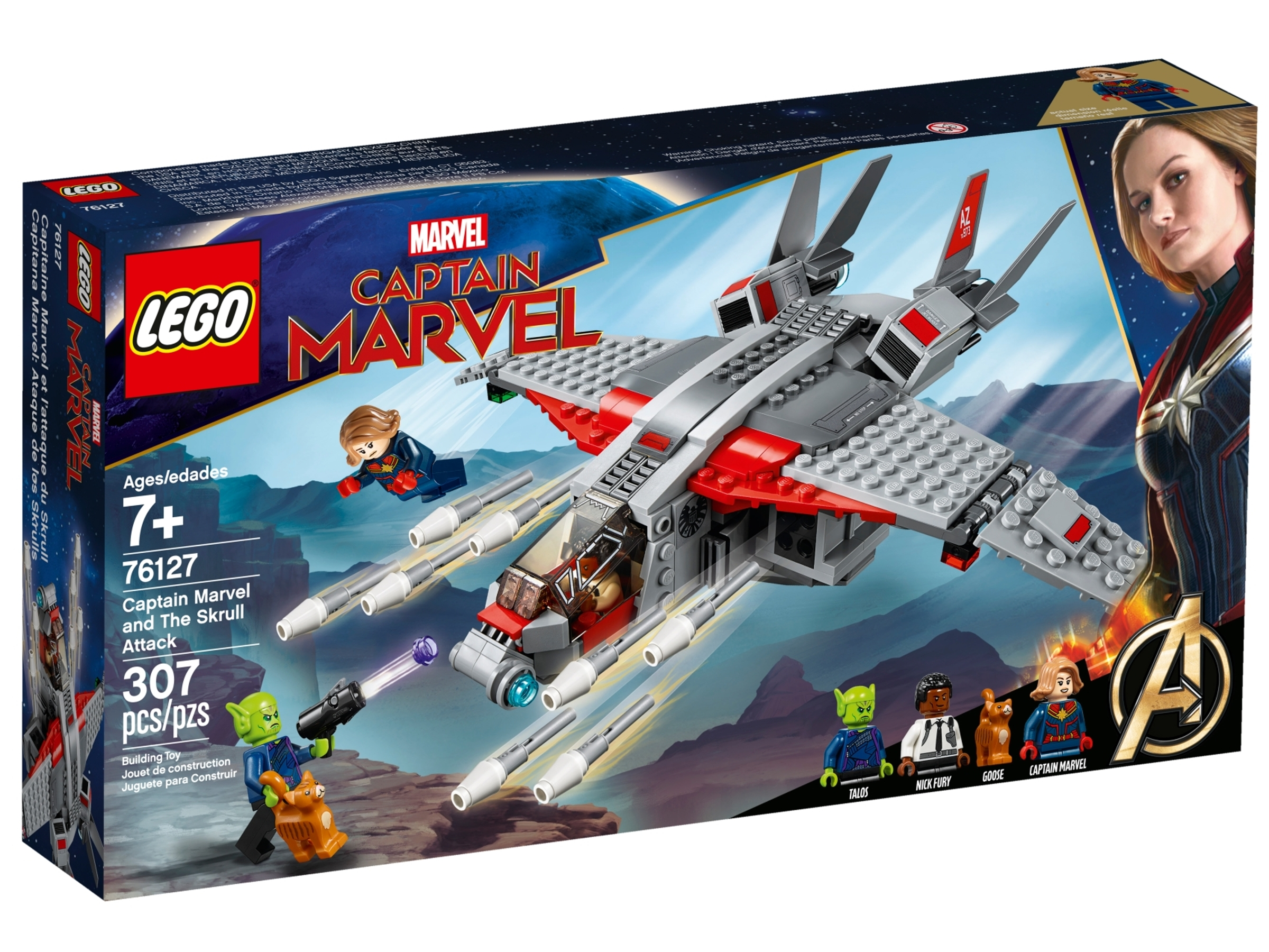 lego 76127 captain marvel ja skrullin hyokkays