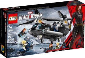 lego 76162 black widown helikopteritakaa ajo