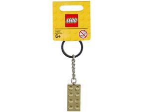 lego 850808 kultainen 2x4 palikka avaimenpera