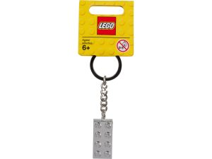 lego 851406 metallipintainen 2x4 palikka avaimenpera