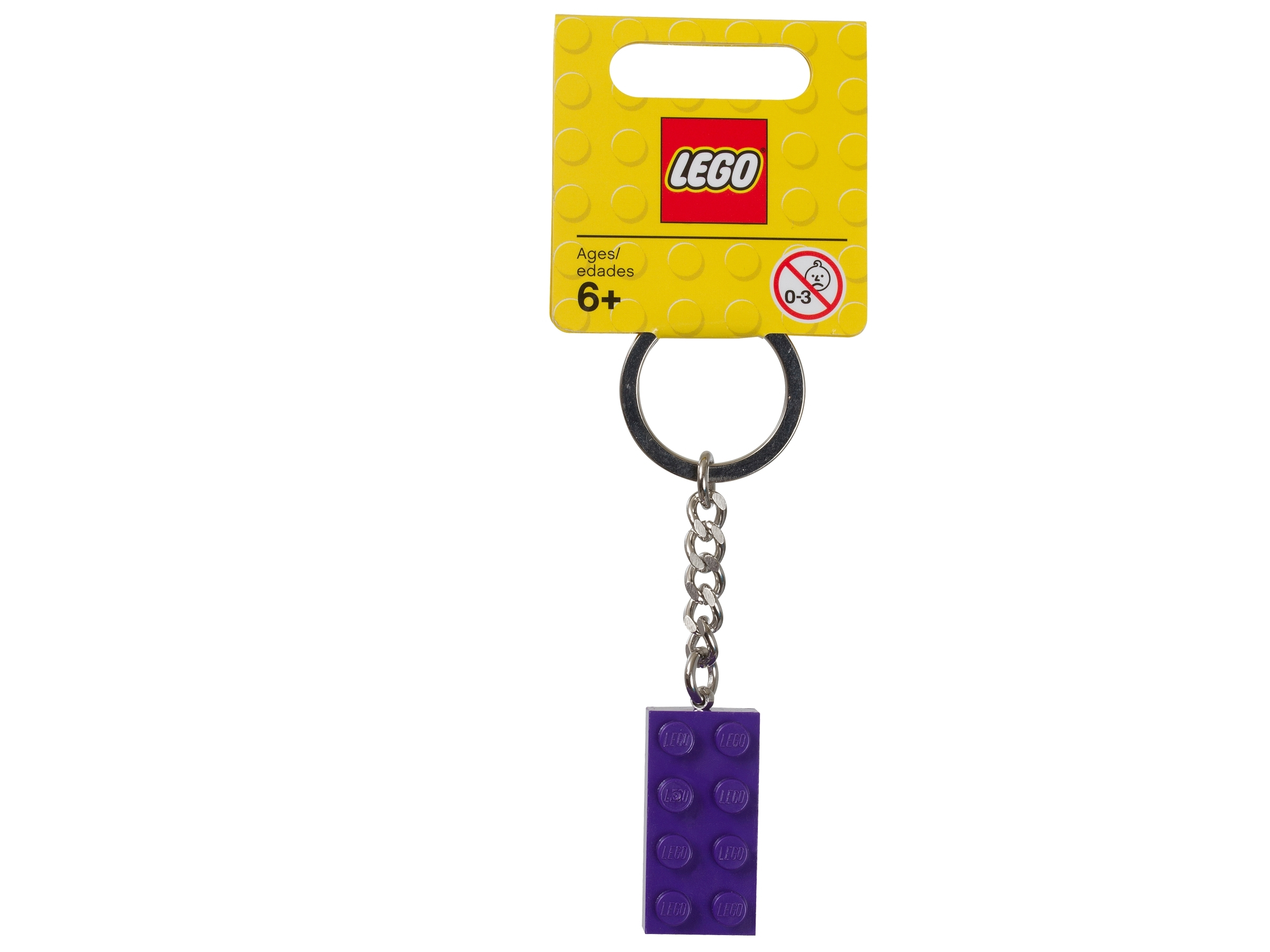 lego 853379 avaimenpera violetti 2x4 nuppinen