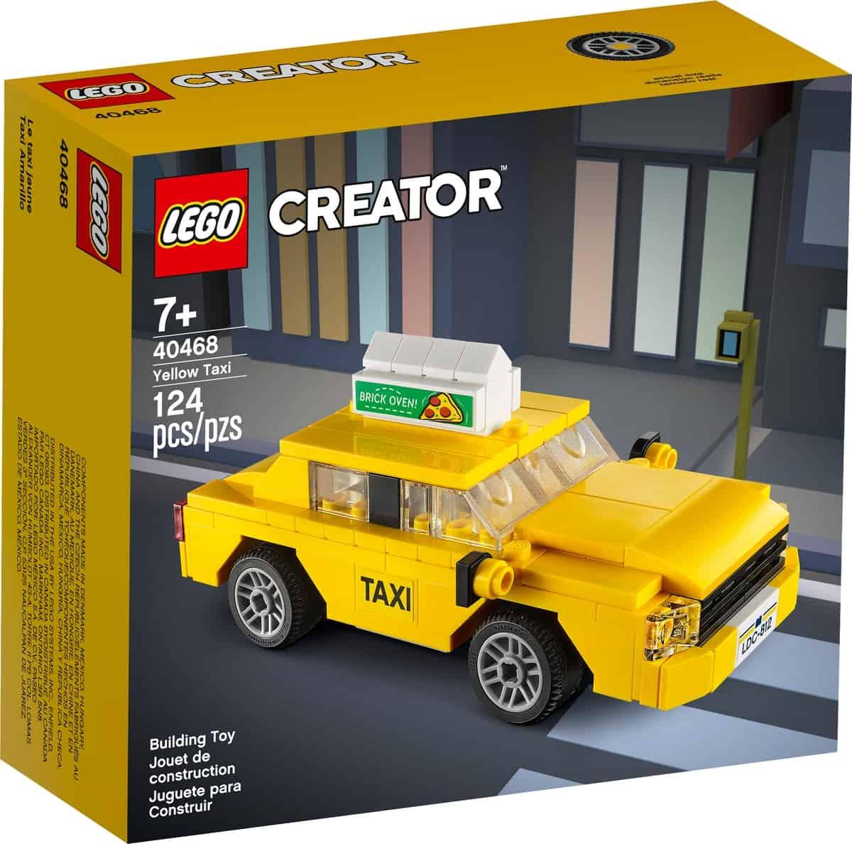 lego 40468 keltainen taksi