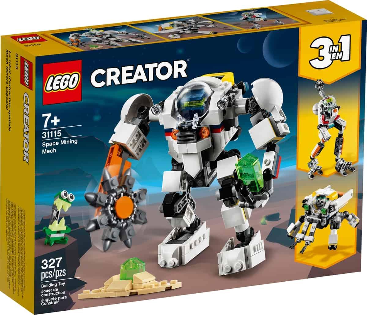 lego 31115 avaruuskaivosrobotti