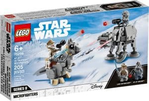 lego 75298 microfighters at at vastaan tauntaun