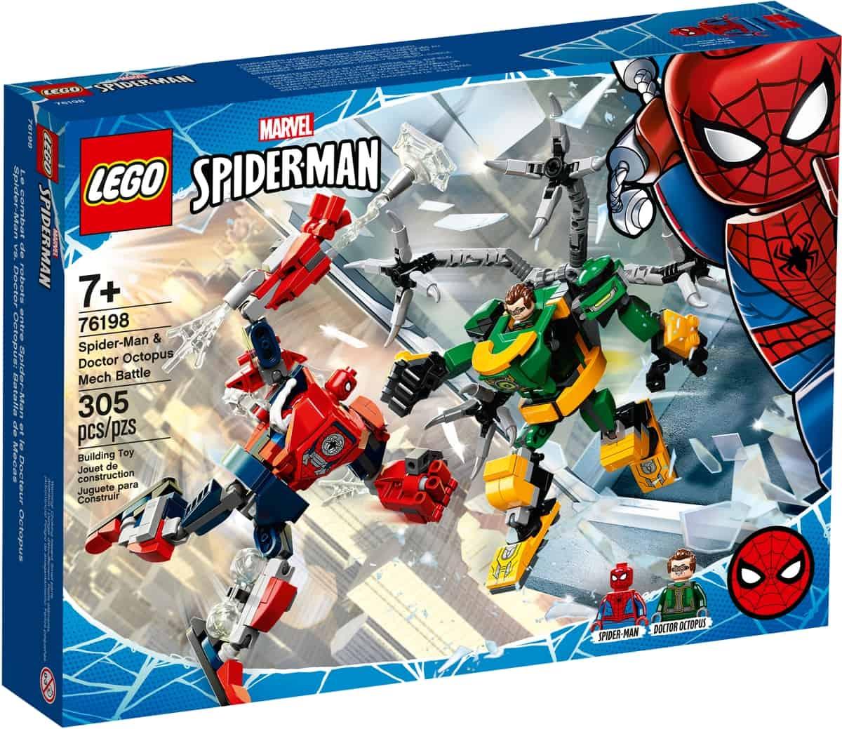 lego 76198 spider manin ja tohtori mustekalan robottitaistelu