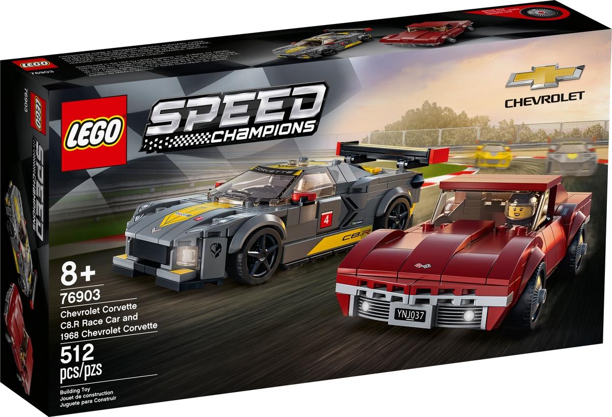 lego 76903 chevrolet corvette c8 r kilpa auto ja 1968 chevrolet corvette