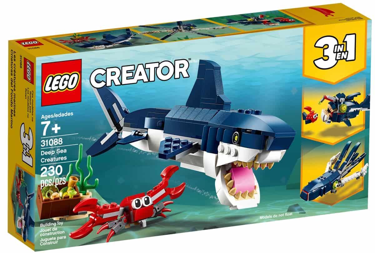 lego 31088 syvanmeren olennot