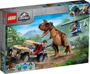 lego 76941 carnotaurus dinosauruksen takaa ajo