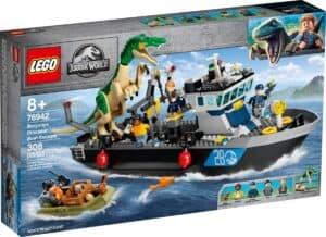 lego 76942 baryonyx dinosauruksen pako laivalla