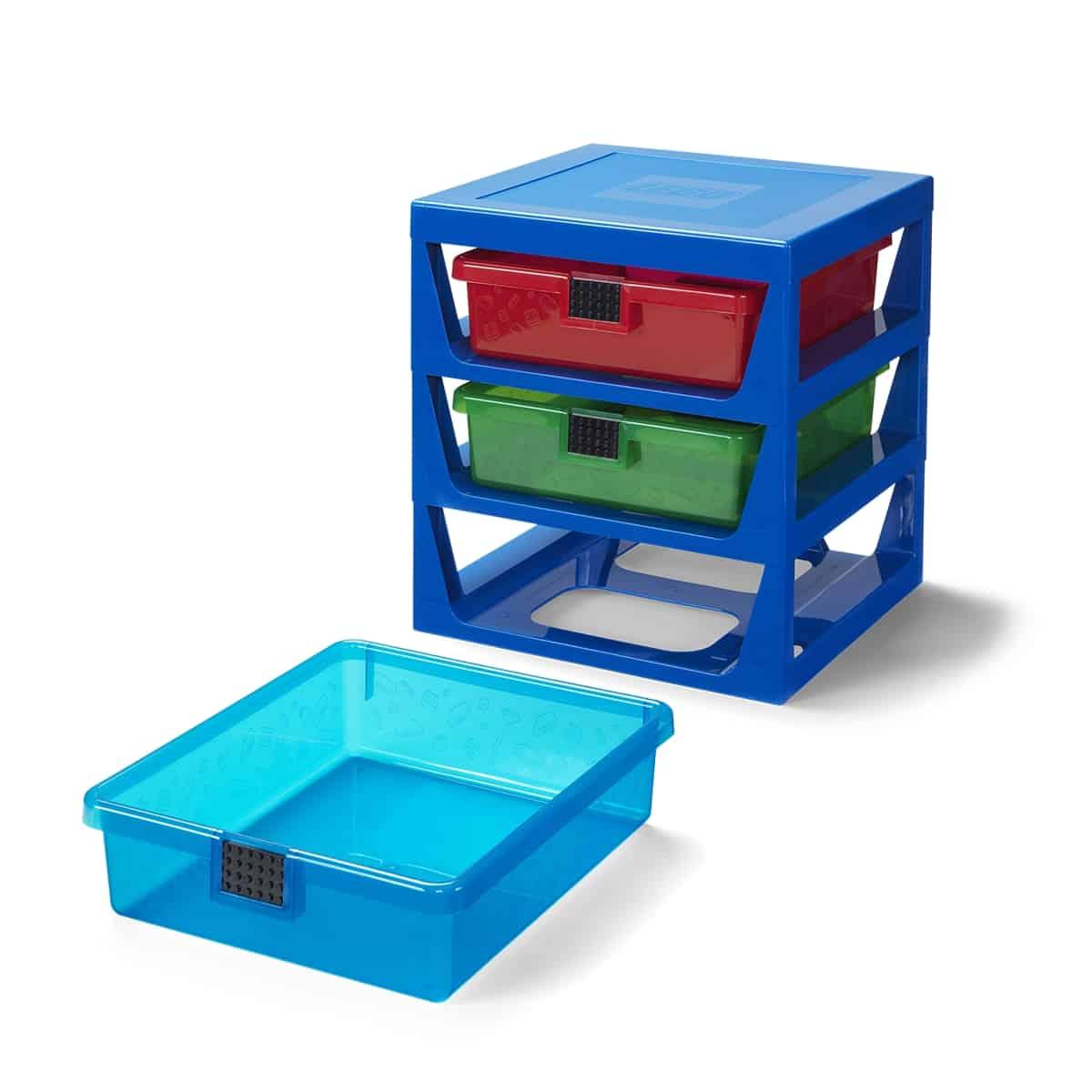 ikoninen lapikuultavan sininen lego 5006179 telinejarjestelma