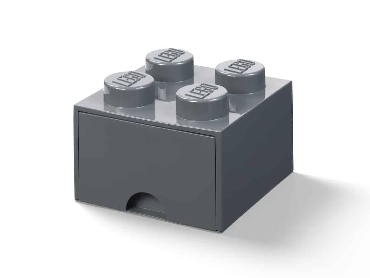 lego 5006328 4 nuppinen tummanharmaa sailytyslaatikko