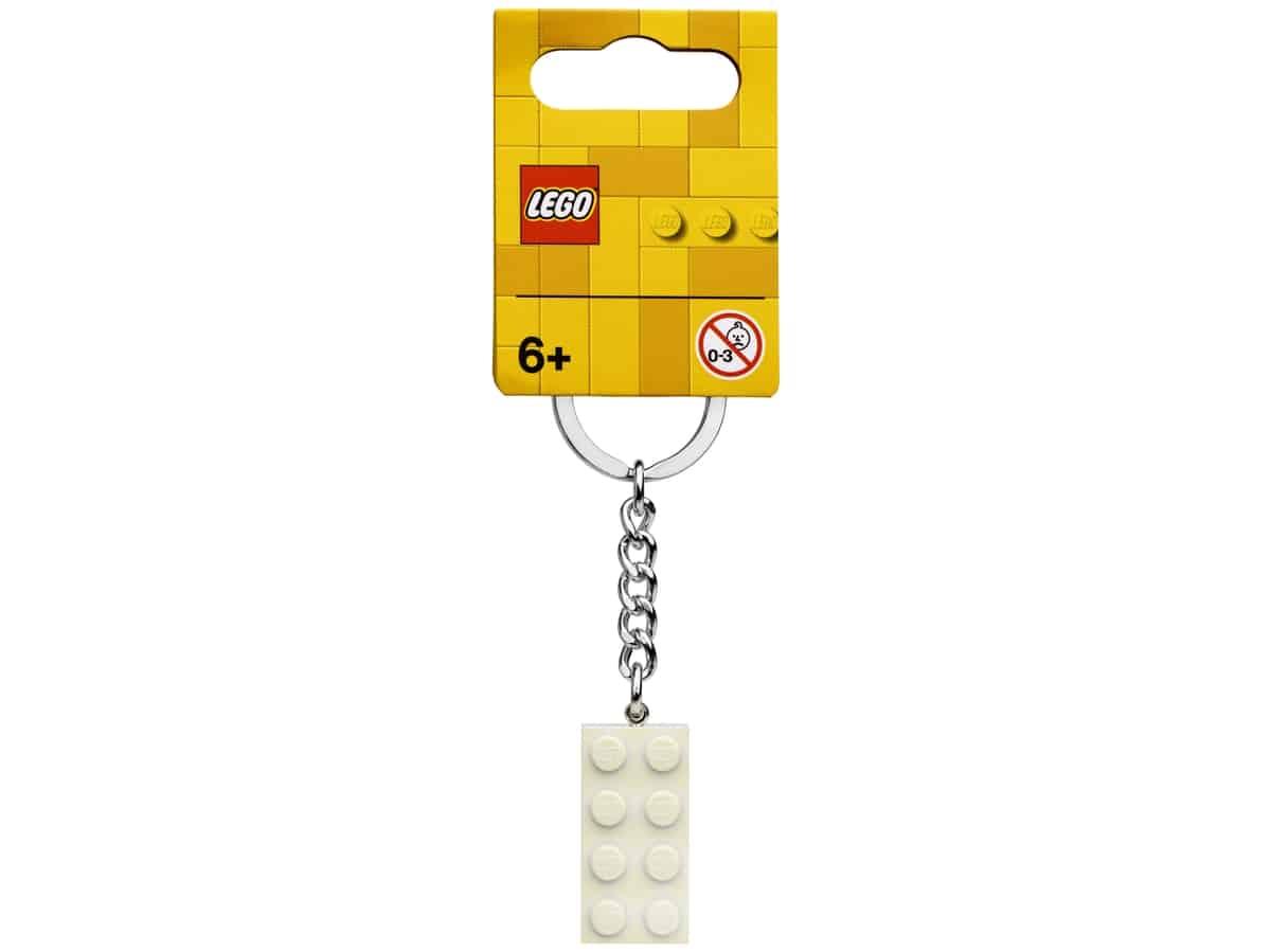 lego 854084 2x4 valkoinen metallinhohtoinen avaimenpera