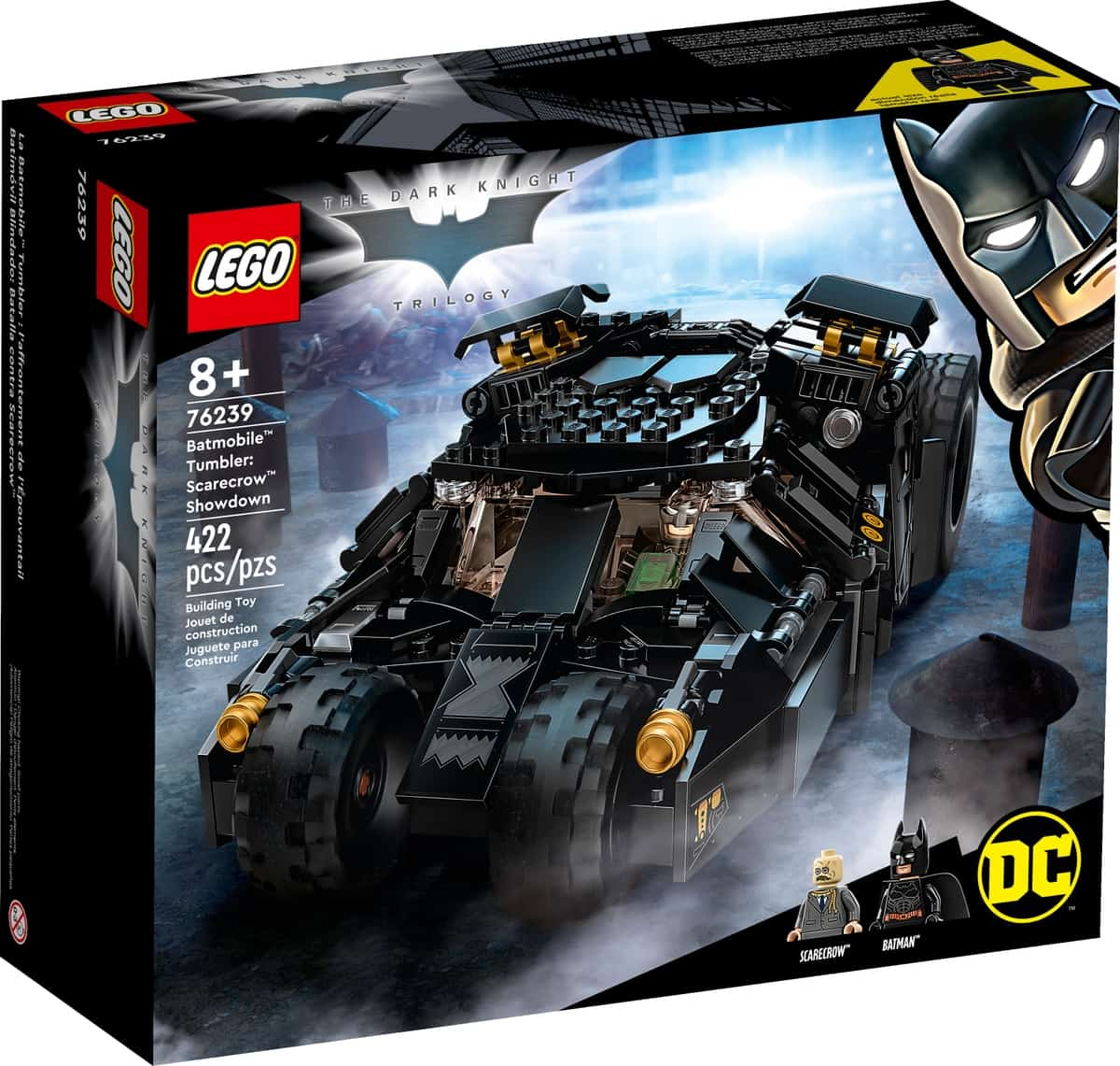 lego 76239 dc batman batmobile tumbler auto scarecrow selkkaus